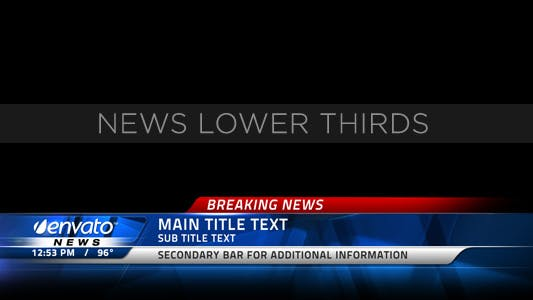 Thumbnail for Broadcast News Lower Thirds