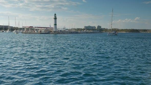 Thumbnail for Sailing Yacht Motoring In The Marina