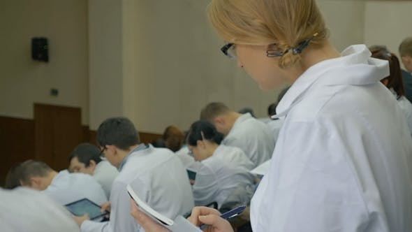 Thumbnail for Medical Student Listening To The Lecture