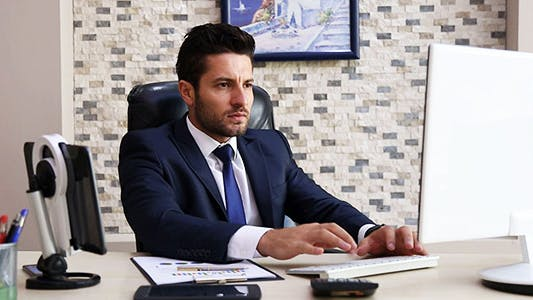 Thumbnail for Businessman Working in Office