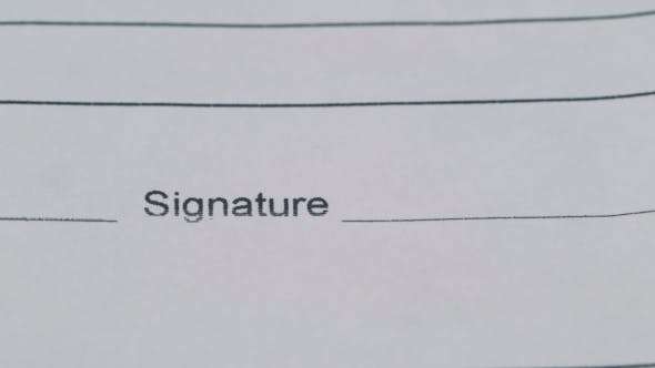 Thumbnail for Signature Of The Document
