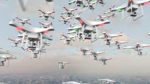 Flying Swarm of UAV Drones