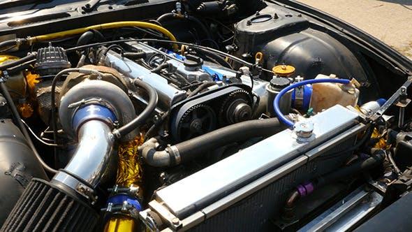 Engine Of The Drift Car