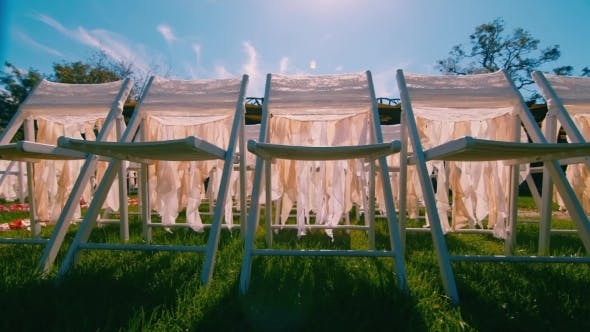 Thumbnail for Chairs On The Wedding Ceremony, Dolly Shot