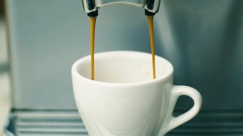 Coffee Machine Prepares Coffee