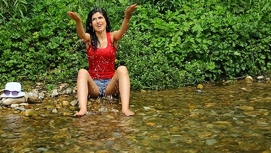 Thumbnail for Girl Playing With Water