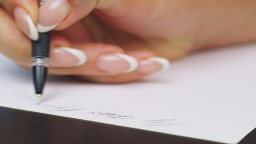 Hand Writes The Word