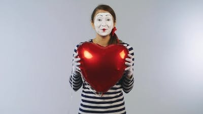 Woman Mime Heartbeat