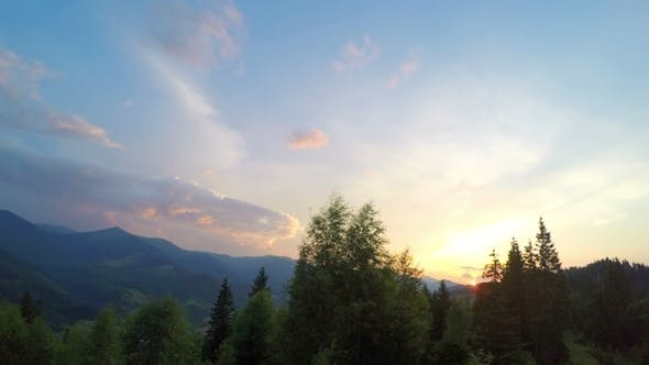Thumbnail for Sunset in Carpathian Mountains.