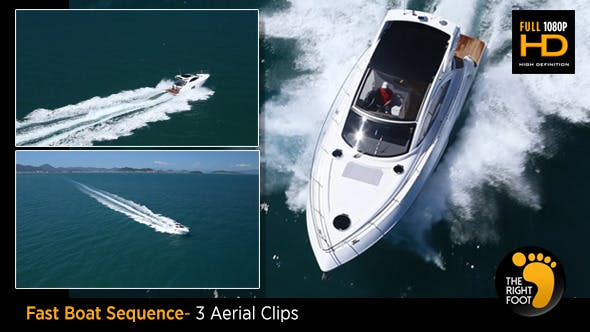 Thumbnail for Fast Boat Pack - 3 Aerial View Clips