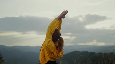 Female Person Doing Warrior Yoga Pose