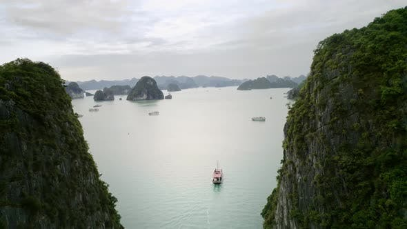 Thumbnail for Drone view of Halong Bay in Vietnam