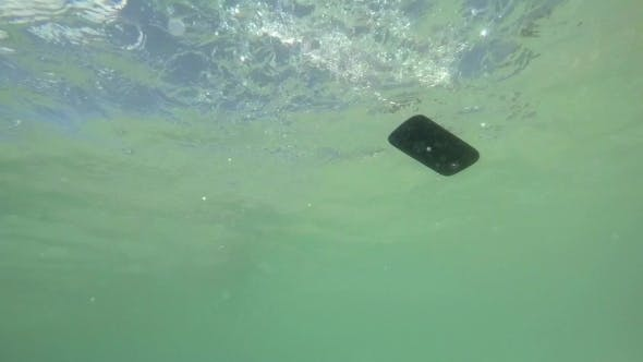 Thumbnail for Throwing Cell Phone In Water. Vacation, Technology