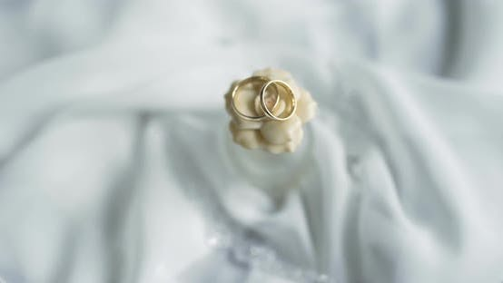 Wedding Rings on Table Bride Accessory