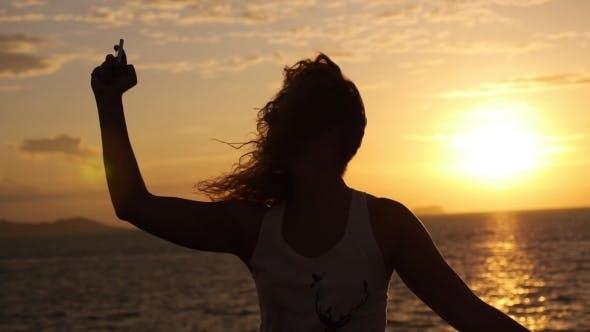 Thumbnail for Happy Lifestyle Selfie Portrait Of Woman