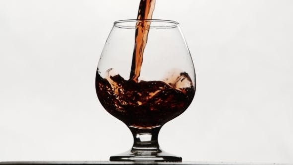 Thumbnail for Moving Red Wine Glass Over a White Background