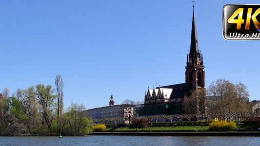 Thumbnail for Dome Church and Main River in Frankfurt Germany