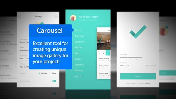 Thumbnail for Carousel Mobile App Mockup