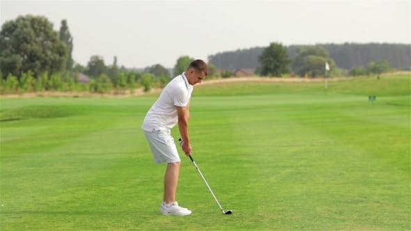 Thumbnail for Young Man Playing Golf