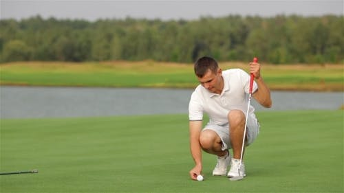 Golfer Is Almost At The Aim