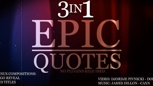 Thumbnail for Epic Quotes 3IN1
