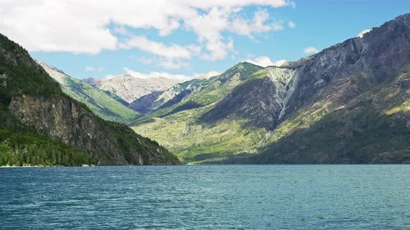 Thumbnail for Beautiful Shot of a Lake with the Mountains Natural Landscape in the Background