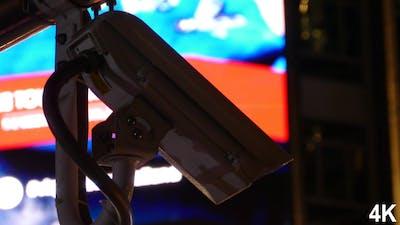 CCTV Security Camera At Night