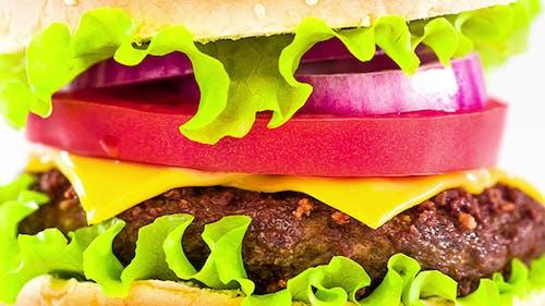 The Tasty And Appetizing Hamburger Cheeseburger