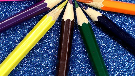 Thumbnail for Colorful Pencils on Glittering Background 2
