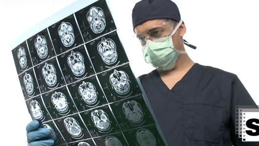 Thumbnail for Surgeon Checking MRI Scan