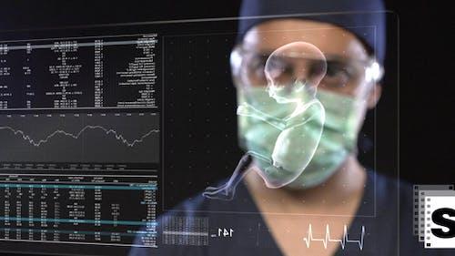 Surgeon Examine Babys Vital Functions
