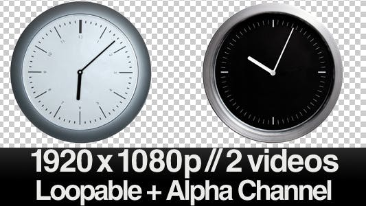 Thumbnail for Time Lapse Clock - 2 Modern Clocks - ALPHA LOOP