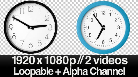 Thumbnail for Time Lapse Clock - 2 Traditional Clocks ALPHA LOOP