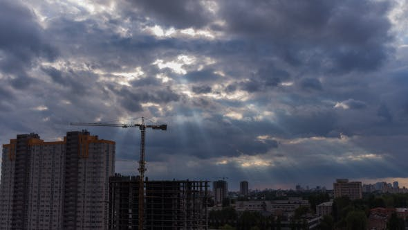 Cover Image for Construction Site In Motion 6 (With God Rays)