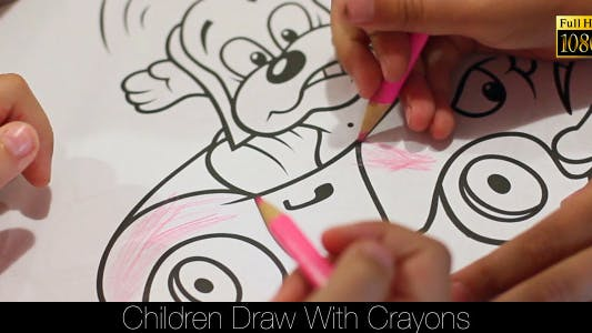 Thumbnail for Children Draw With Crayons
