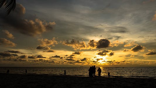 Thumbnail for Cloudy Sunset at The Beach 01