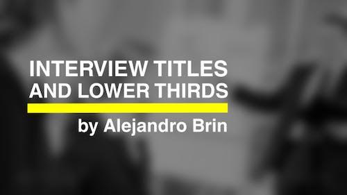 Interview Titles