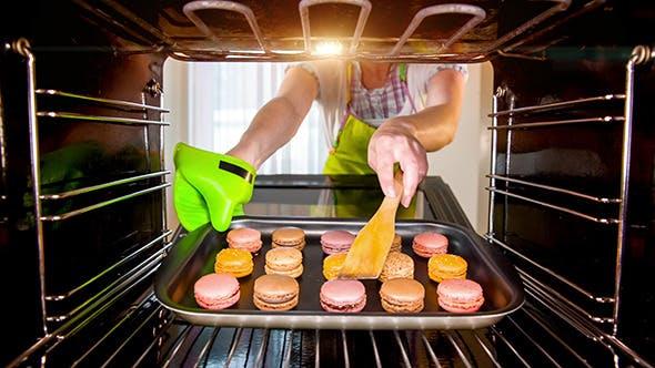 Backen Macarons im Ofen