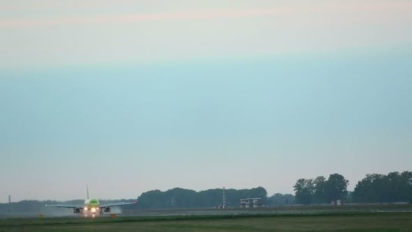Cover Image for Airplane Taxiing On Runway