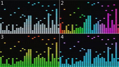 VJ Equalizer Musik Spectrum