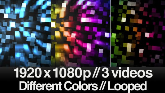 Thumbnail for Smooth Motion Cubes Background - Series of 3  LOOP