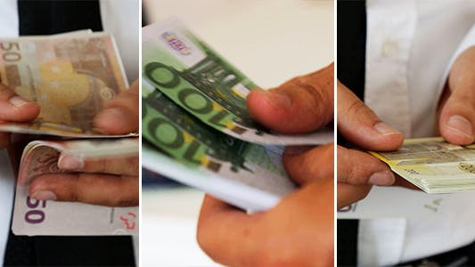 Thumbnail for Counting Euro Bills