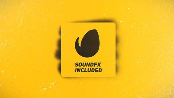 Sprühfarbe Logo Reveal