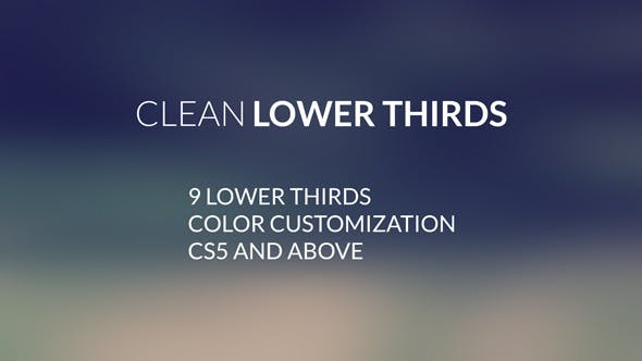 Thumbnail for Clean LowerThirds | After Effects Template