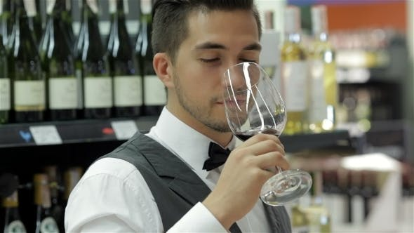 Thumbnail for Confident And Experienced Sommelier