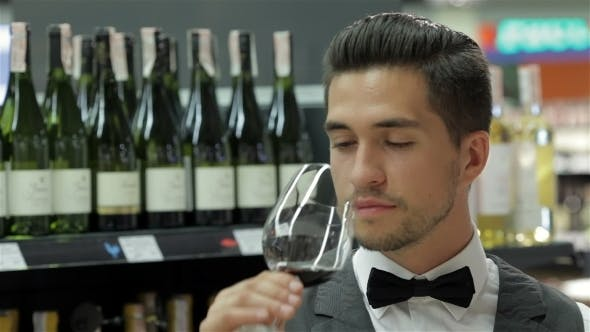 Thumbnail for Sommelier Examining Wine