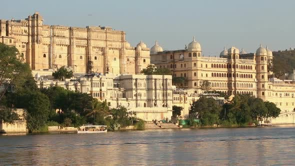 Thumbnail for Pichola Lake And Palaces In Udaipur India 4