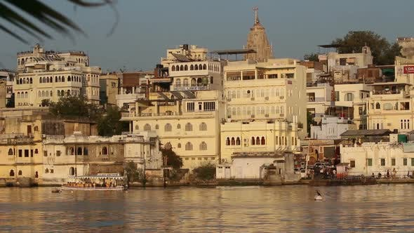 Thumbnail for Pichola Lake And Palaces In Udaipur India 5