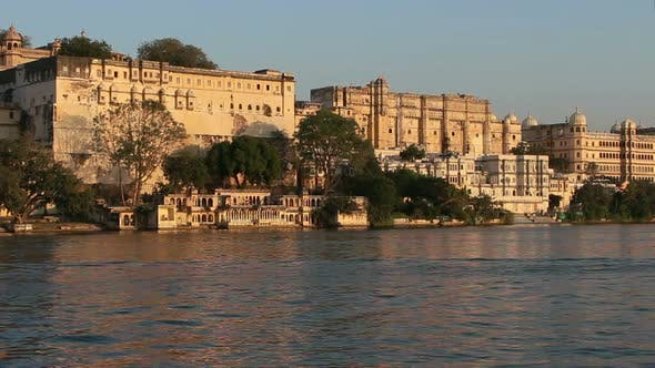 Thumbnail for Pichola Lake And Palaces In Udaipur India 6