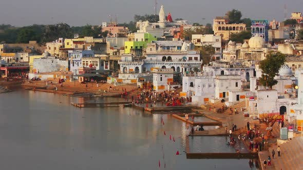 Thumbnail for Ritual Bathing In Holy Lake - Pushkar India 1